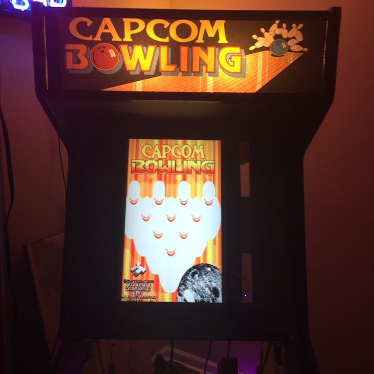 I converted my capcom bowling to lcd. The picture is soooo much better than the 28 year old CRT! This guy is for sale! $400 bones, who wants it!