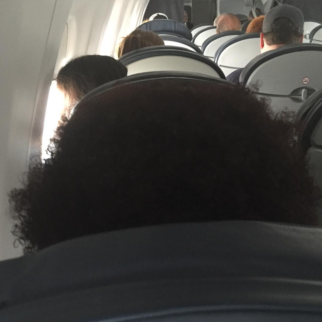Just flew in to Chicago o'hair.